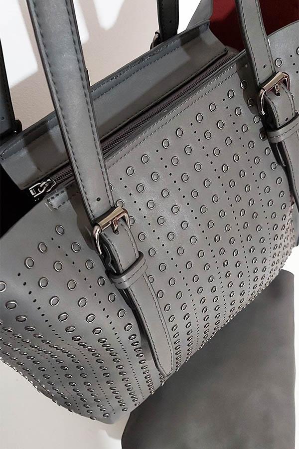 22940 Τσάντα ώμου / Χειρός + Μικρό τσαντάκι Grey